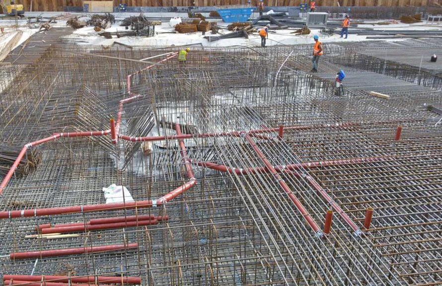 Kanalbau: Grundleitung in Bodenplatte