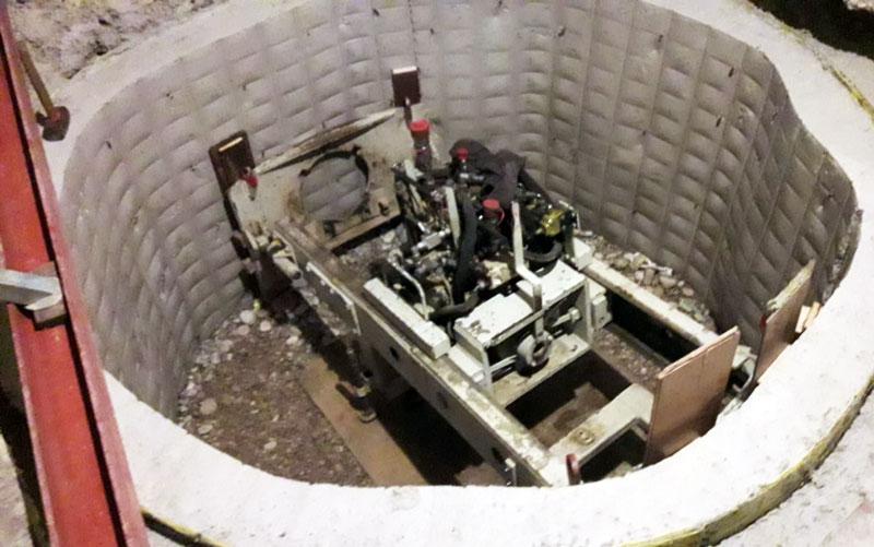 Microtunneling aus Startschacht
